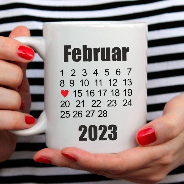 Tasse mit beliebigem Datum - personalisiert