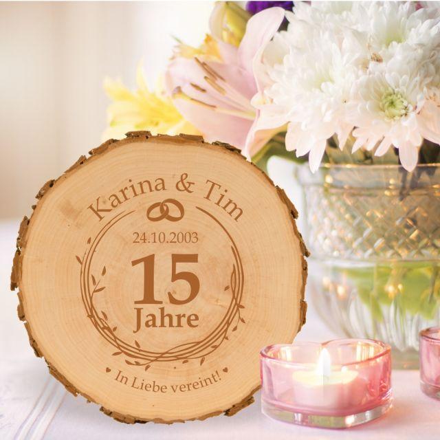 Baumscheibe zum Hochzeitsjubiläum - personalisiert