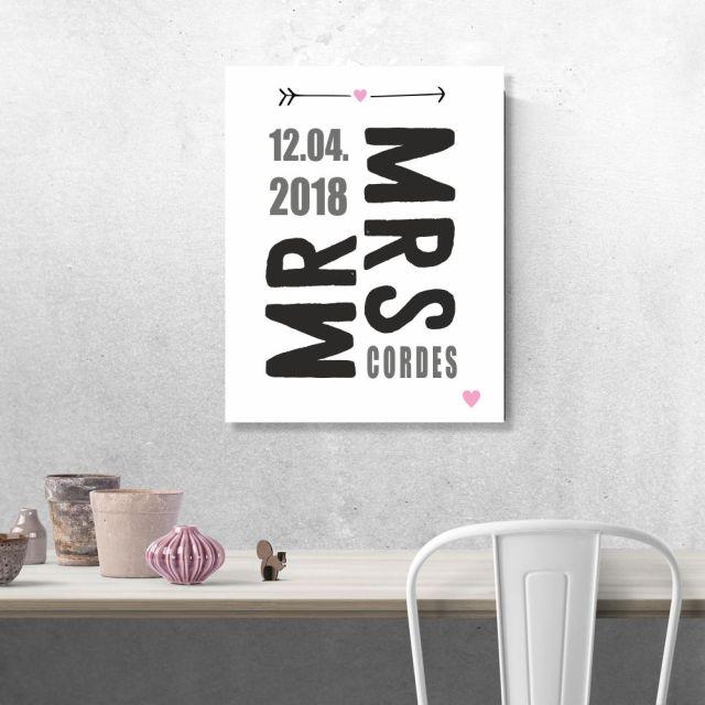 """Poster """"Mr. & Mrs."""" - personalisiert (verschiedene Größen)"""