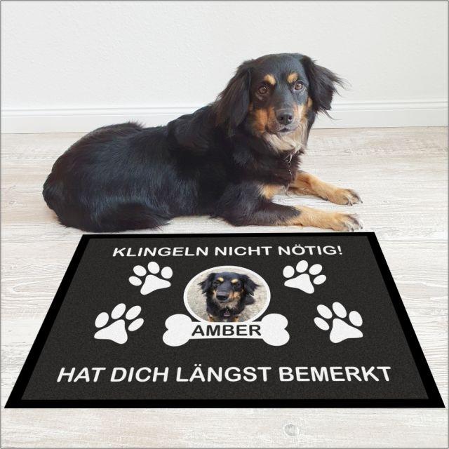 """Personalisierte Fußmatte """"Klingeln nicht nötig!"""""""