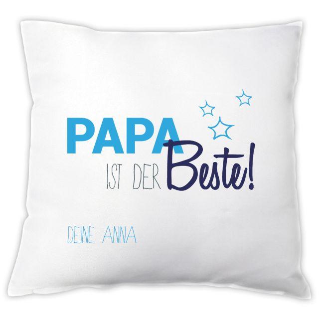 """Kissen """"Papa ist der Beste!"""" - mit Personalisierung"""