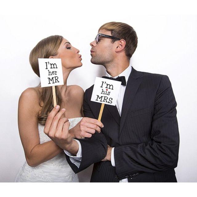 Mr & Mrs Fotoschilder zur Hochzeit