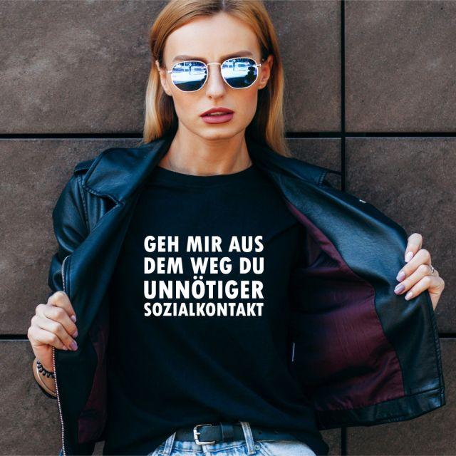 """T-Shirt """"Du unnötiger Sozialkontakt"""""""