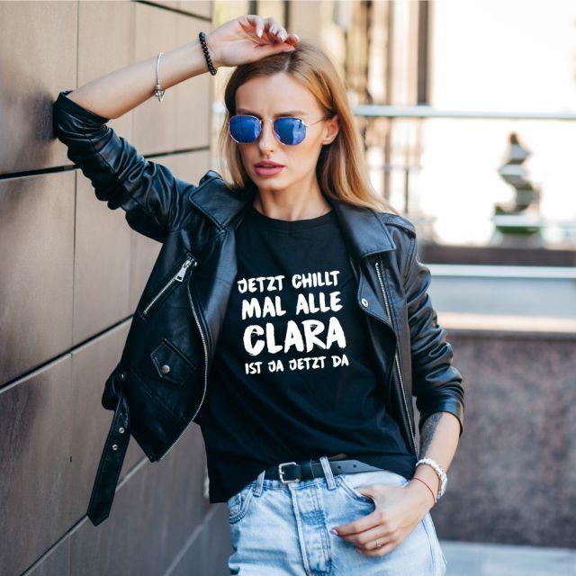 """Personalisiertes Damen T-Shirt """"Jetzt chillt mal alle!"""""""