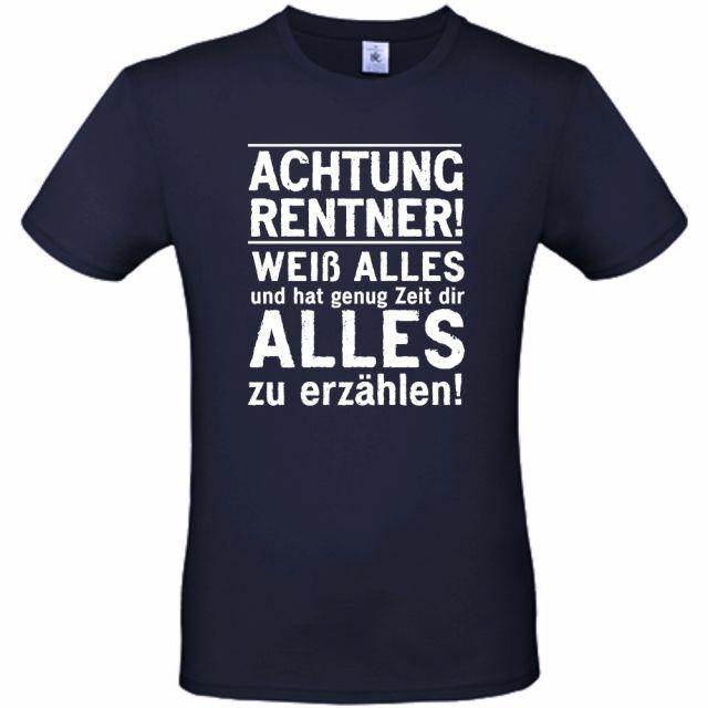 """T-Shirt """"Achtung Rentner!"""""""