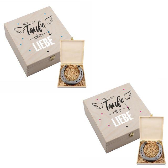 """Hufeisen-Box """"Zur Taufe alles Liebe"""""""