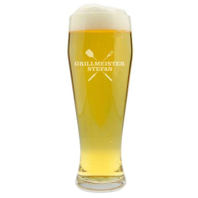 """Weizenbierglas """"Grillmeister"""" - personalisiert"""