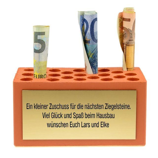 Grundstein zum Richtfest/ Hausbau/ Einzug - personalisiert